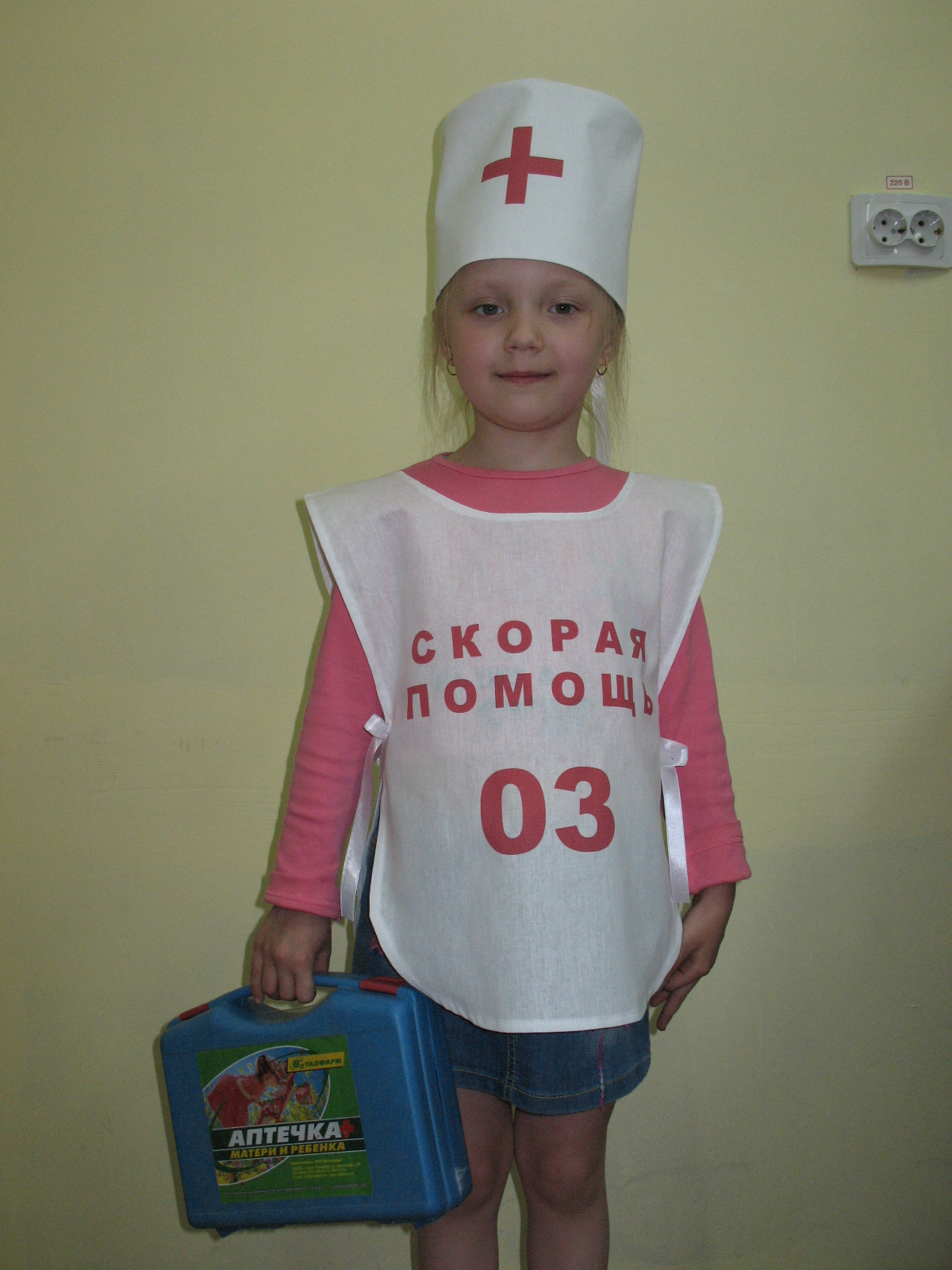 Костюм медсестры для девочки своими руками в детский сад 45